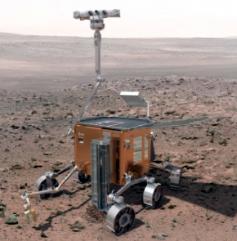 Rover martien, composant le programme ESA-NASA Exomars, prévu en 2016 et 2018. Crédits : ESA